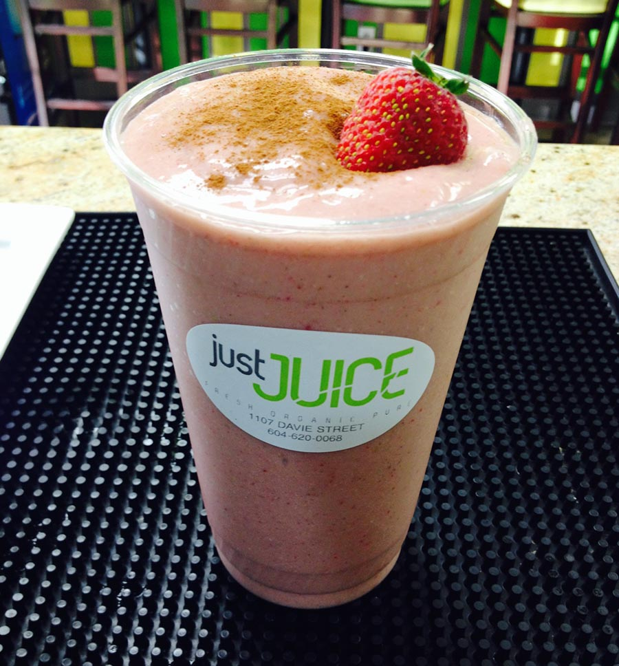 Smoothie from Just Juice in Vancouver