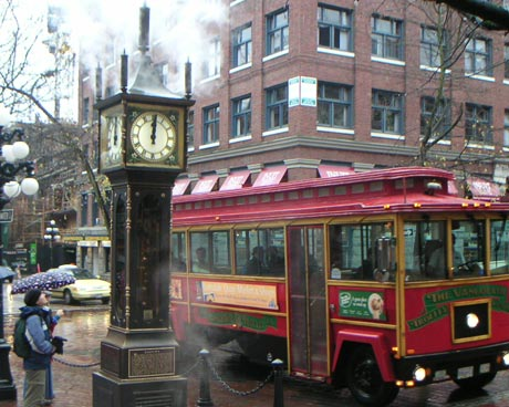 Gastown's Steamclock and Trolley