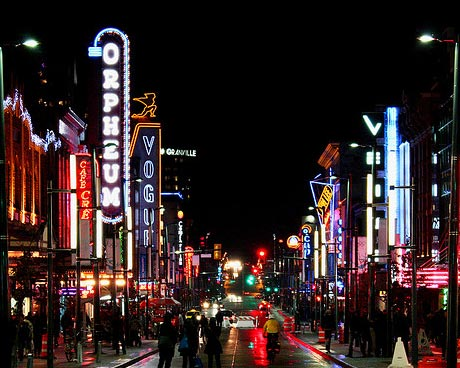 Granville Street Nightlife