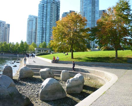 Vancouver's Seawall near a Park